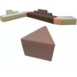 Pouf 1 place Nodal extérieur 45° L55,5 cm tissu 1
