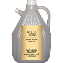 Lot de 4 recharges shampooing corps et cheveux Aqua Sense 3 L