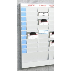 Planning 20 cases A4 : élément départ H 126,3 x L 58 x P 4,6 cm
