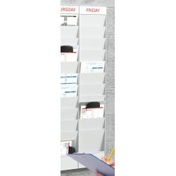 Planning 10 cases A4 : complément H 126,3 x L 24,1 x P 4,6 cm