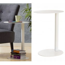 Table d'appoint Ø 40 x H 57 cm blanche