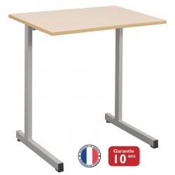 Lot de 32 tables scolaires à dégagement latéral Mona mélaminé chant polypropylène70x50 cm