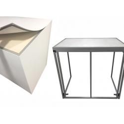 Buffet pliant Médium avec habillage PVC blanc L120 x P80 x H110 cm