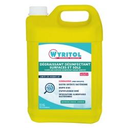 Lot de 2 bidons Wyritol dégraissant désinfectant surfaces et sols 5L