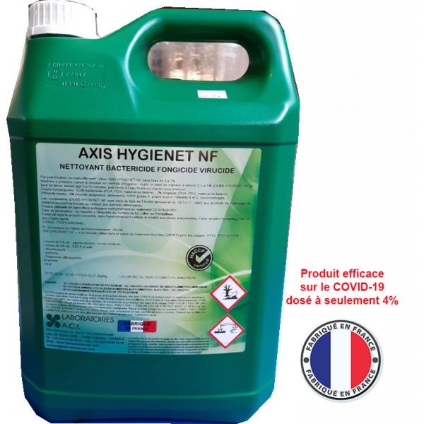 Carton de 6 bidons de nettoyant désinfectant dégraissant Axis Hygienet NF 5L