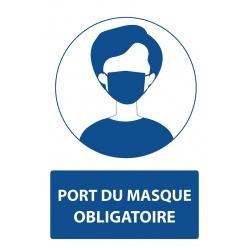 """Lot de 4 panneaux PVC A4 """"PORT DU MASQUE OBLIGATOIRE"""""""