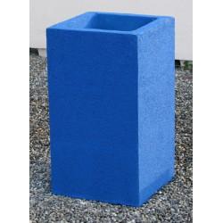 Cendrier Litchi plus béton coloré 41x41xH72 cm