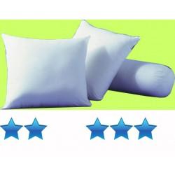 Lot de 20 oreillers 60x60 cm 100 coton blanc garnissage polyester 550 g
