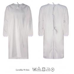 Lot de 100 blouses imperméables et réutilisables à lacets