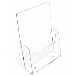 Porte-brochures transparent - 1 niveau - A4