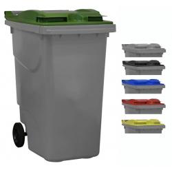 Bac roulant de collecte 100% recyclable 360 L corps gris