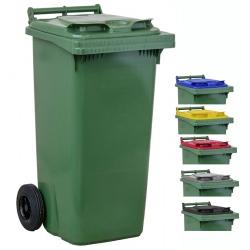 Bac roulant de collecte 100% recyclable 120 L corps vert