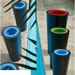 Double pot décoratif Colors® Up diamètre 50 x H100 cm