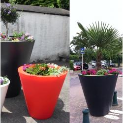 Double pot décoratif Colors® Open diamètre 80 x H80 cm