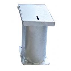Boîtier d'amovibilité pour borne en inox 316 ø8,9 cm