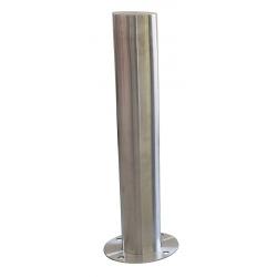 Borne en inox 316 sur platine ø15,9 x H80 cm