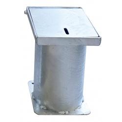 Boîtier d'amovibilité pour borne en inox 316 ø15,9 cm