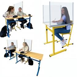 Lot de 50 séparateurs de tables scolaires non feu M1 et recyclable L75 x H50 cm