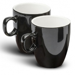 Mug resistant en grès noir 150 ml