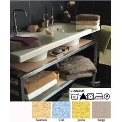 Lot de 24 serviettes de toilette 50x100 cm 100% coton 380g liteau chevron