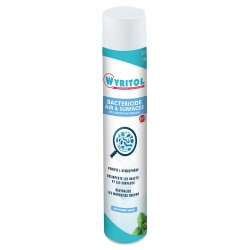 Lot de 12 purificateurs d'air et surfaces bactéricide 750 ml