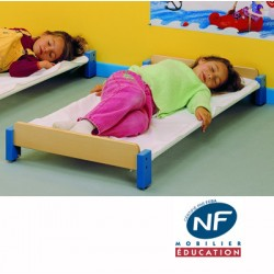 Lot de 4 couchettes empilables NF