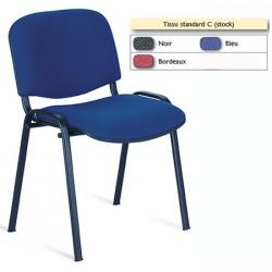 Chaise empilable Emmanuelle tissu standard