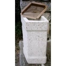 Cendrier en béton Madère avec grille