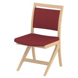 Chaise appui sur table Polka piétement hêtre massif tissu Trévira CS non feu M1
