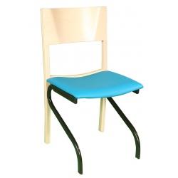 Chaise Elsa piétement métal assise tissu enduit non feu M1