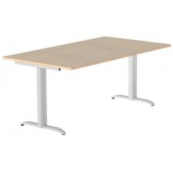 Table de restauration Mano 2 pieds plateau stratifié 24 mm chant alaisé bois 140 x 100 cm
