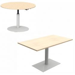Table de restauration Mano hauteur réglable plateau stratifié 24 mm chant alaisé bois 140 x 80 cm