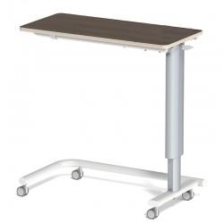 Table à manger au lit hauteur variable plateau médium stratifié 4 roulettes libres L90 x P42 cm