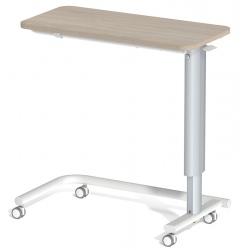 Table à manger au lit hauteur variable plateau stratifié 4 roulettes libres L90 x P42 cm