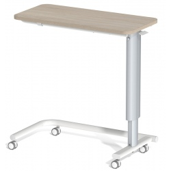 Table à manger au lit hauteur variable plateau stratifié 4 roulettes à frein L90 x P42 cm