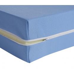Housse de matelas ép 13 cm polyester M1 bleu 140x200 cm