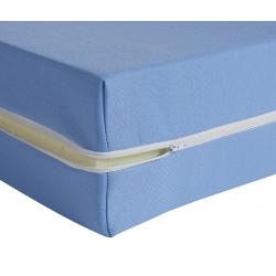 Housse de matelas ép 15 cm polyester M1 bleu 140x190 cm