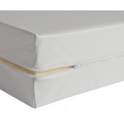 Housse de matelas blanche ép 13 cm polyuréthane M1 140x190 cm