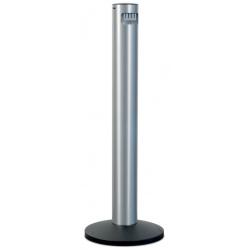 Cendrier colonne sur pied en aluminium brossé 5 L