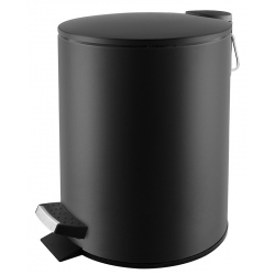 Poubelle à pédale Premium en inox noir mat 3 L