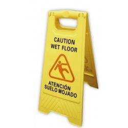 Panneau de sécurité 2 faces jaune L30 x P48 x H61,5 cm