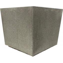 Jardinière en béton Iconic gris 90 x 90 x H80 cm