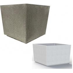 Jardinière en béton Iconic gris 120 x 120 x H80 cm