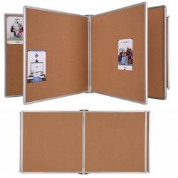 Console multivolets 6 panneaux liège H90 x L60 cm