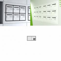 Boîte aux lettres intérieure Cassis NF anti effraction 2 cases horizontales