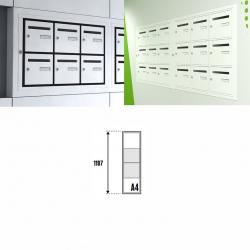 Boîte aux lettres intérieure Cassis NF anti effraction 4 cases verticales