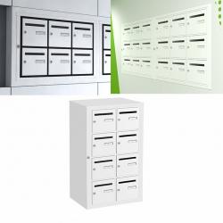 Boîte aux lettres intérieure Cassis NF anti effraction 8 cases verticales