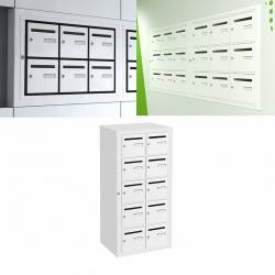 Boîte aux lettres intérieure Cassis NF anti effraction 10 cases verticales