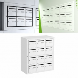 Boîte aux lettres intérieure Cassis NF anti effraction 12 cases verticales