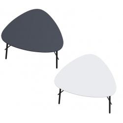 Table basse pieds acier noir mat et plateau MDF L60,5 x P50 cm